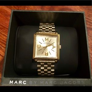 Marc Jacobs Yellow gold Square Watch